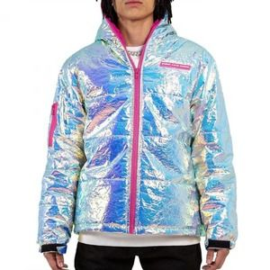 Pink Dolphin Iridescent Puffer Jacket Pink Dolphin